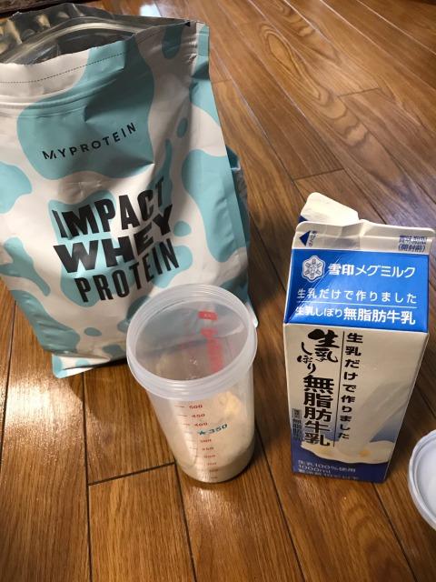マイプロテイン北海道ミルク無脂肪牛乳割り