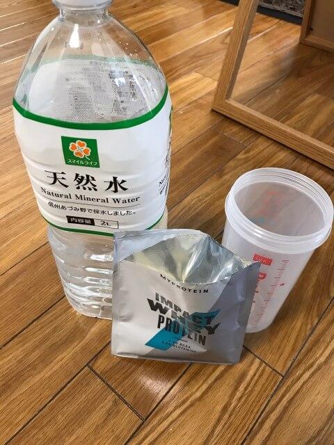 マイプロテインパイナップル水割り飲みます!