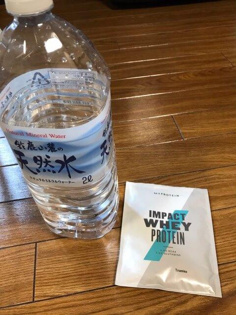 マイプロテインティラミス水割りで飲んでいきます